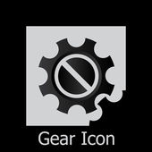 Gear icon with place for your text. — Stock Vector