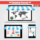 Concept online shopping. — Stock Vector