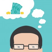 Thoughts about money — Stock Vector