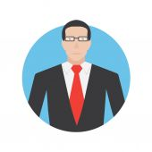 Businessman icon illustration — Stock Vector