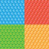 Tetris pieces pattern — Stock Vector