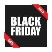 Background text Black Friday. — Stock Vector