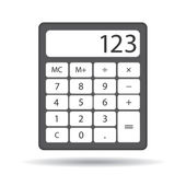 Calculator on white background — Stock Vector