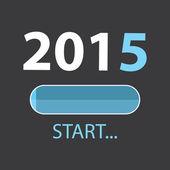 LOADING 2015 Illustration — Stock Vector