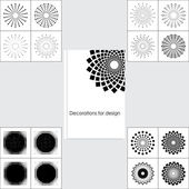Set design elements — Stock Vector