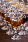 Tasty juice glasses — Stock Photo