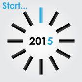 Start 2015 year — Stock Vector