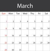 Monthly calendar 2015 — Stock Vector
