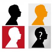 Man silhouette profile picture — Stock Vector