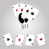 A winning poker hand — Stock Vector