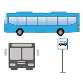 Bus images — Stockvector