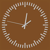 "Vector icons ""clock"" on a brown — Stock Vector"