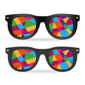 Hipster colorful glasses — Stock Vector