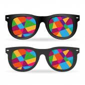 Hipster colorful glasses — Vecteur