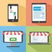 Concept online shopping — Stock Vector