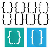Alphabet Set Symbols — Stock Vector