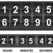 Black Countdown timer — Stock Vector #64504127