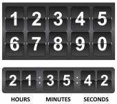 Black Countdown timer — Stock vektor