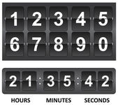 Black Countdown timer — Stock Vector