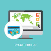 Online purchase infographics — Stockvector