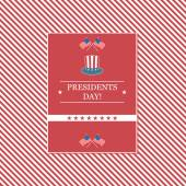 Presidents Day card — Stock Vector