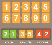 Color Countdown timer — Stock Vector