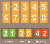Color Countdown timer — Stock vektor