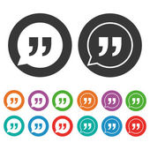 Quote sign icon set — Stock Vector