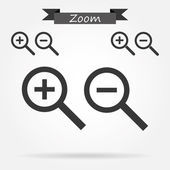Zoom In and Out Icons — Stock Vector