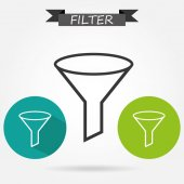 Filter icon set — Vettoriale Stock