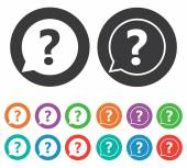 Question mark icons set. — Stock Vector