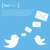 Twitter signs with envelopes — Stok Vektör