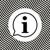 Black Information icon. — Stock Vector