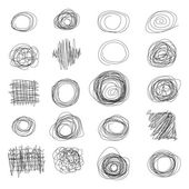 Hand Drawn Scribble Circles — Stock Vector
