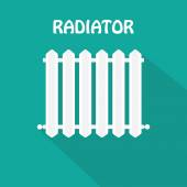 White Radiator icon — Vettoriale Stock