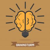 Light bulb brain — Stock Vector