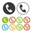 Color Handset icons — Stock Vector #68439095