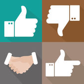 Hands thumbs up  and down — Stock Vector