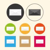 Email icons on colored — Stock vektor