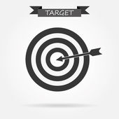 Target icon on white — Stock Vector