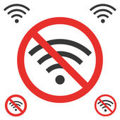 No signal wifi on white — Stockvector