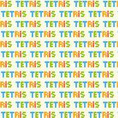Tetris pieces background — Stock Vector