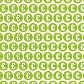 Green Dollar Background — Stock Vector