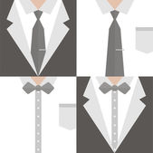 Four Businessman in a suit — Stock Vector