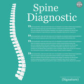Spine Diagnostic background — Vector de stock
