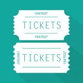 White Tickets pictogram — Stockvector