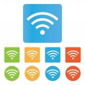 Color Wifi icons — Stock Vector