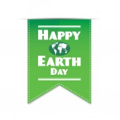 Earth day green banner — Stock Vector