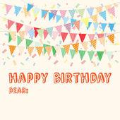 Tarjeta del feliz cumpleaños — Vector de stock