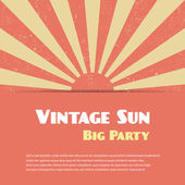 Vintage sun background — Stock Vector
